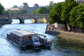 Paris on the Seine; looking toward the Pont Neuf. Photo courtesy of  Bateaux Parisiens.
